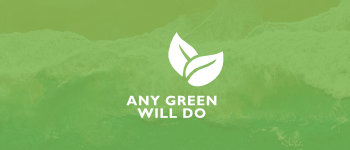 Any green will do logo image